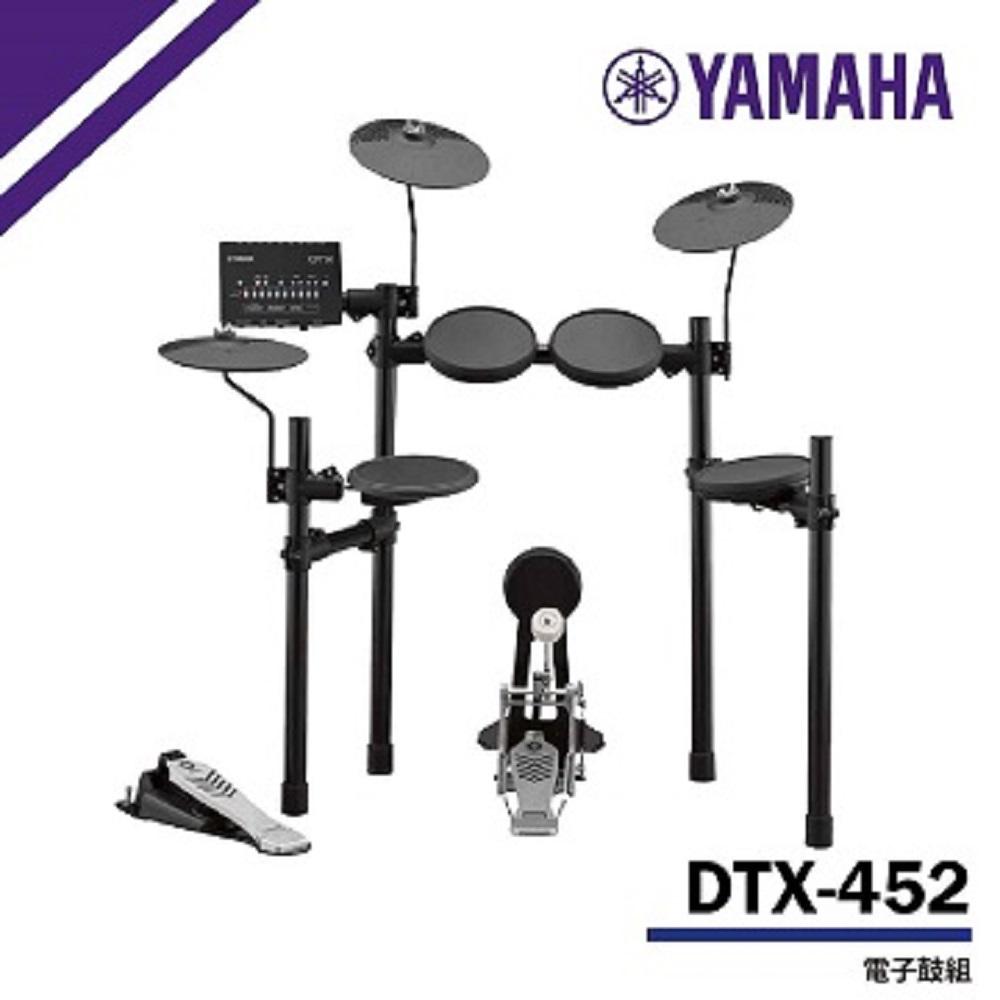 【YAMAHA山葉】DTX452K 電子鼓 / 含鼓椅、鼓棒、耳機、踏板 / 公司貨保固 @ Y!購物