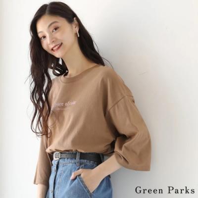 Green Parks 七分袖字母圓領上衣