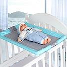 DF 童趣館 - 嬰兒床專用可折疊式平台床台-藍色