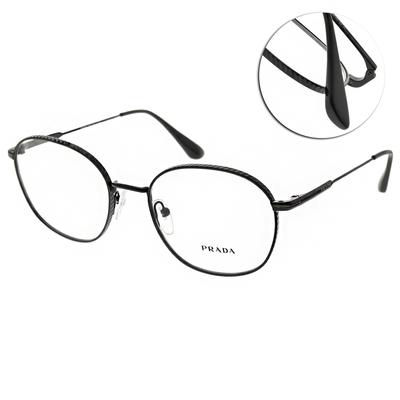 PRADA光學眼鏡 圓框款/黑 #VPR53WV 1AB-1O1