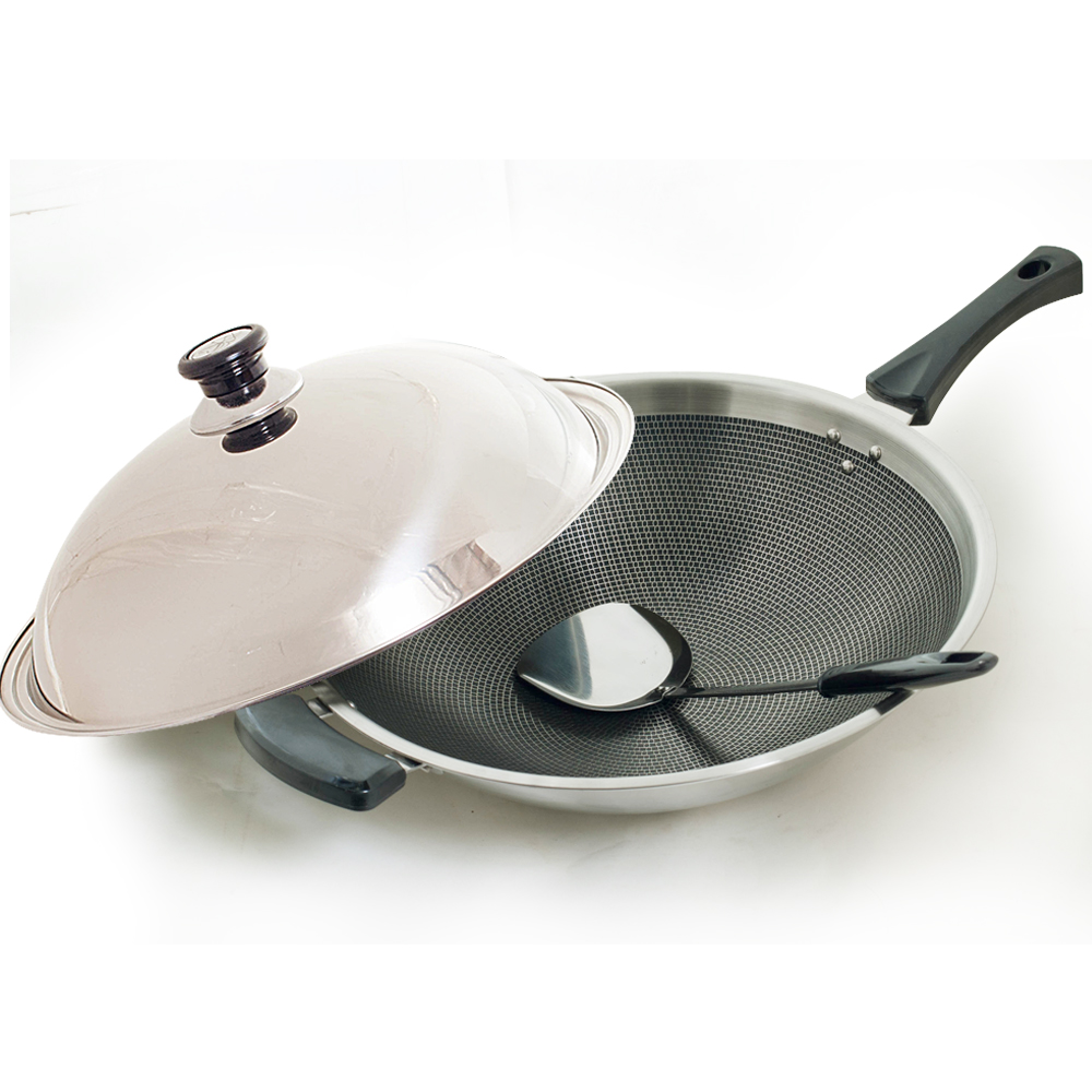 台灣好鍋 藍水晶享樂鍋(炒鍋42cm單柄)