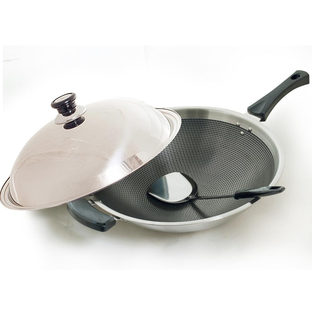 台灣好鍋 藍水晶享樂鍋(炒鍋39cm單柄)
