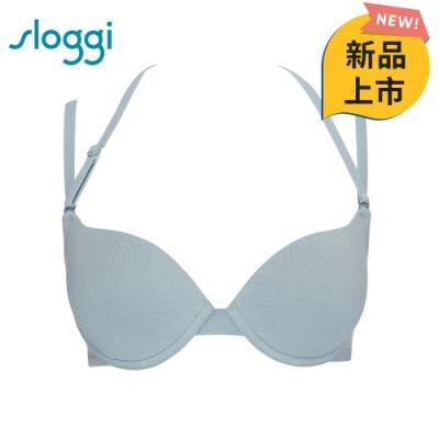 sloggi everyday有機過生活系列下厚上薄 B-D罩杯內衣 海藍泡泡 16-4107 SW