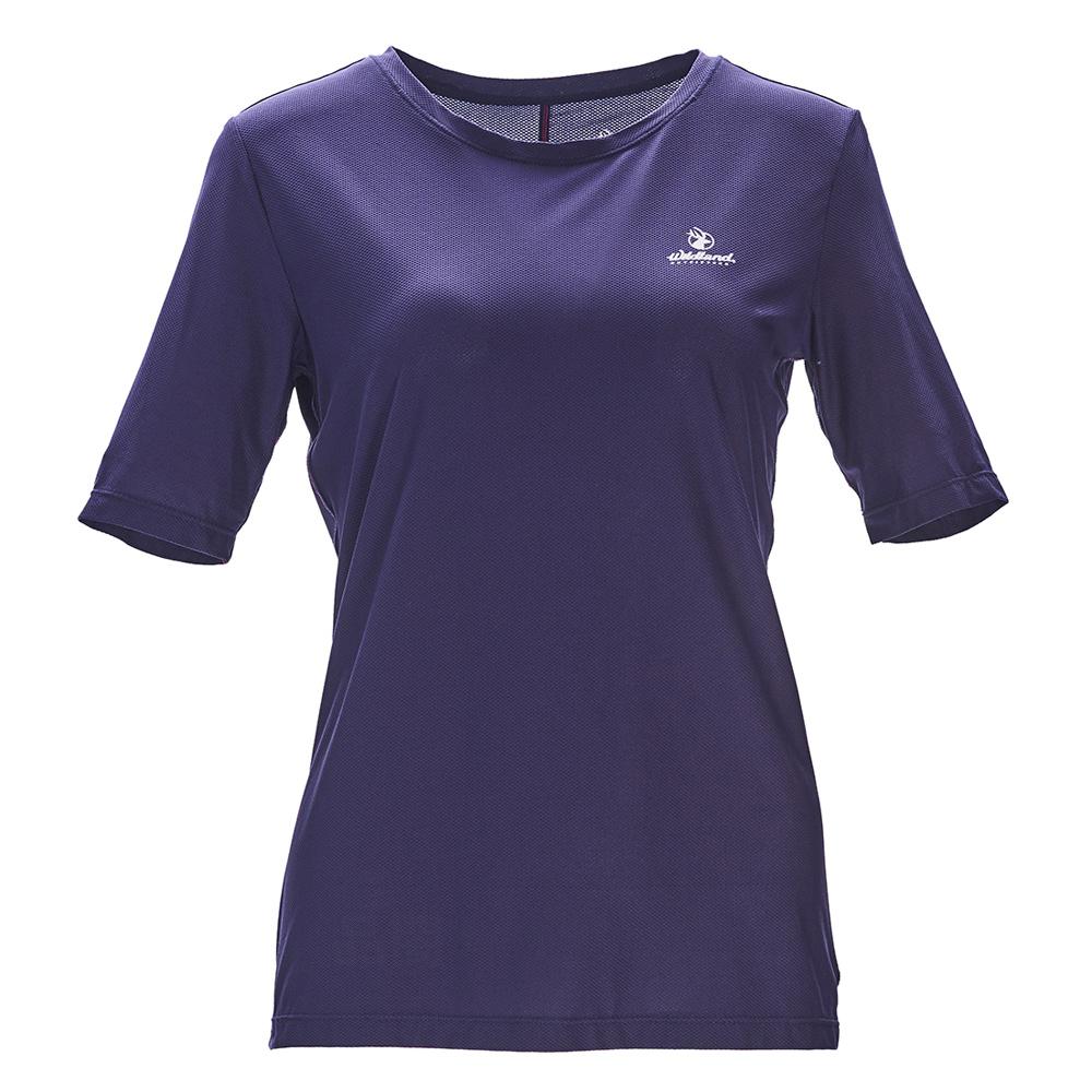 荒野【wildland】女彈性排汗圓領上衣藍紫色