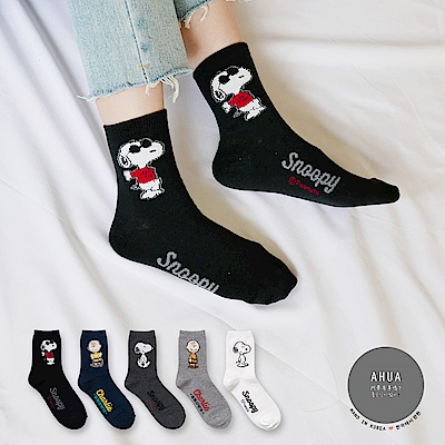阿華有事嗎 韓國襪子 立體史努比人物中筒襪 韓妞必備長襪 正韓百搭純棉襪