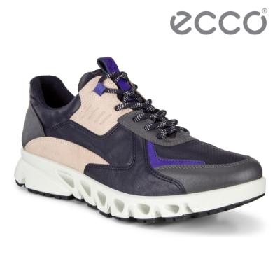 ECCO MULTI-VENT W 全方位城市戶外防水運動休閒鞋 女鞋午夜藍/裸色
