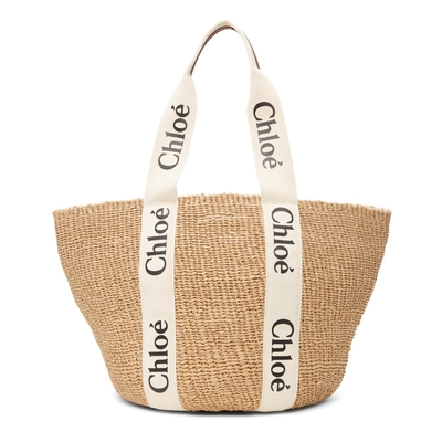 CHLOE Large Woody Basket 托特包 草編包 米色