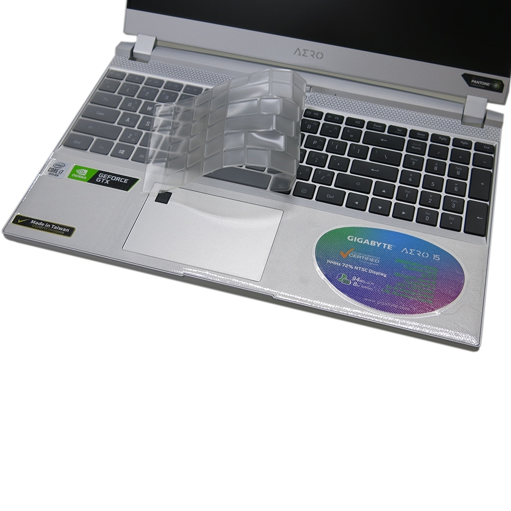 EZstick 技嘉 GIGABYTE Aero 15S SB 專用 奈米銀抗菌 TPU 鍵盤膜