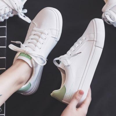 韓國KW美鞋館 時尚百搭造型素面平底鞋-綠