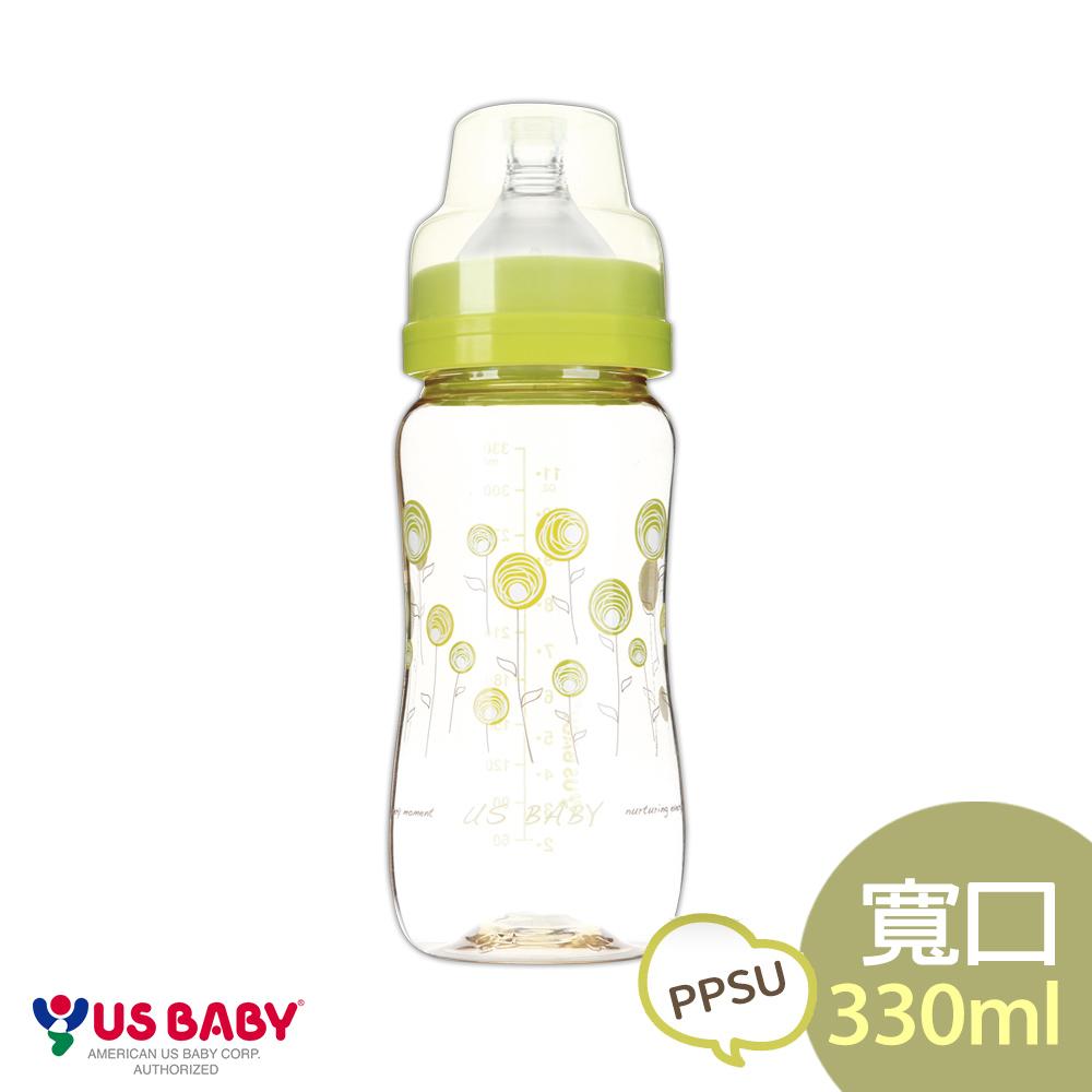 優生真母感PPSU奶瓶(寬口330ml-綠)