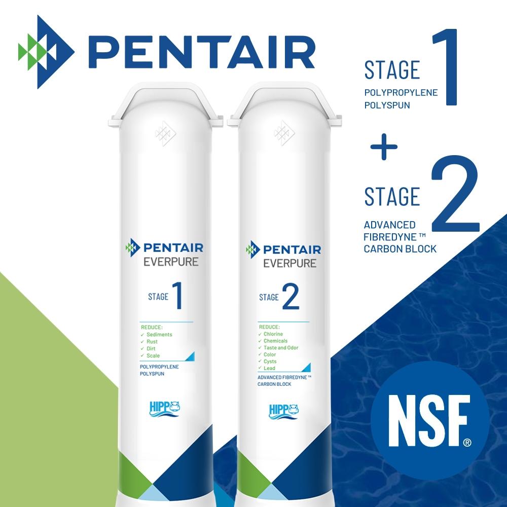 【Pentair】F2200專業除鉛過濾濾心組(Stage01+Stage02)