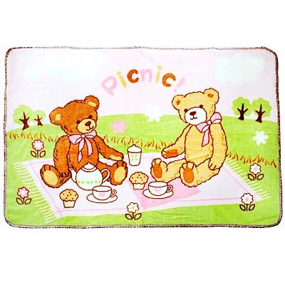 西川毛毯-野餐熊童毯(2色可選)