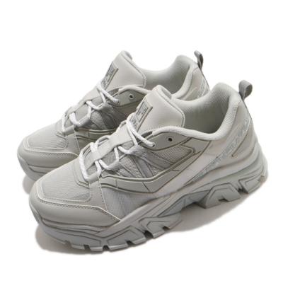 Fila 休閒鞋 Z Buffer 2 厚底 男女鞋 斐樂 老爹鞋 穿搭 修飾 皮革 灰 4C353V050