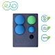 RAD Point Release Kit 瑜珈磚套組 花生球+3種尺寸按摩球+瑜珈磚 深層按摩 運動舒緩 筋膜放鬆 product thumbnail 1