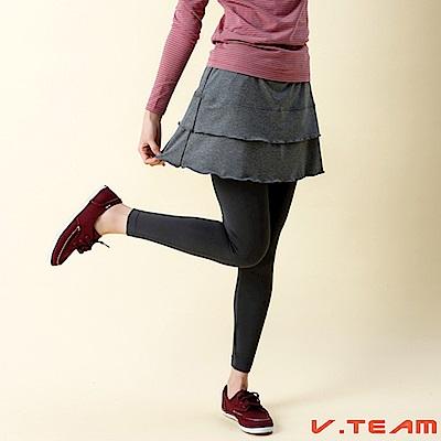 【V-TEAM】韻律短褲裙-灰-女款