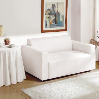 H&D 柏莎雙座白色皮沙發
