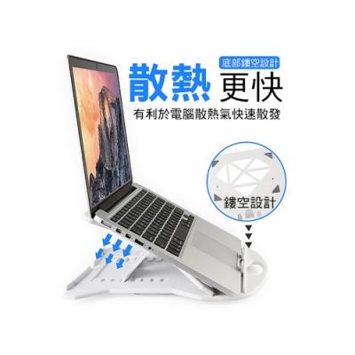 七段可調高度 可旋轉式 筆電 散熱架 筆電架 讀書架