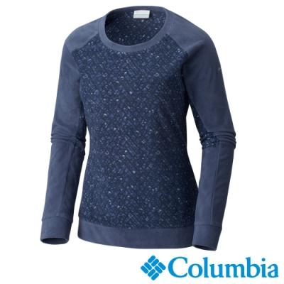 Columbia 哥倫比亞 女款-Fleece刷毛長袖上衣-深藍