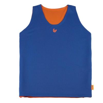 【V-TEAM】雙面穿吸排籃球背心-中藍