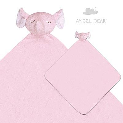 美國 Angel Dear 大頭動物嬰兒毛毯 (粉紅大象)