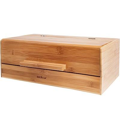 《EXCELSA》Eco竹製麵包收納盒(36cm)