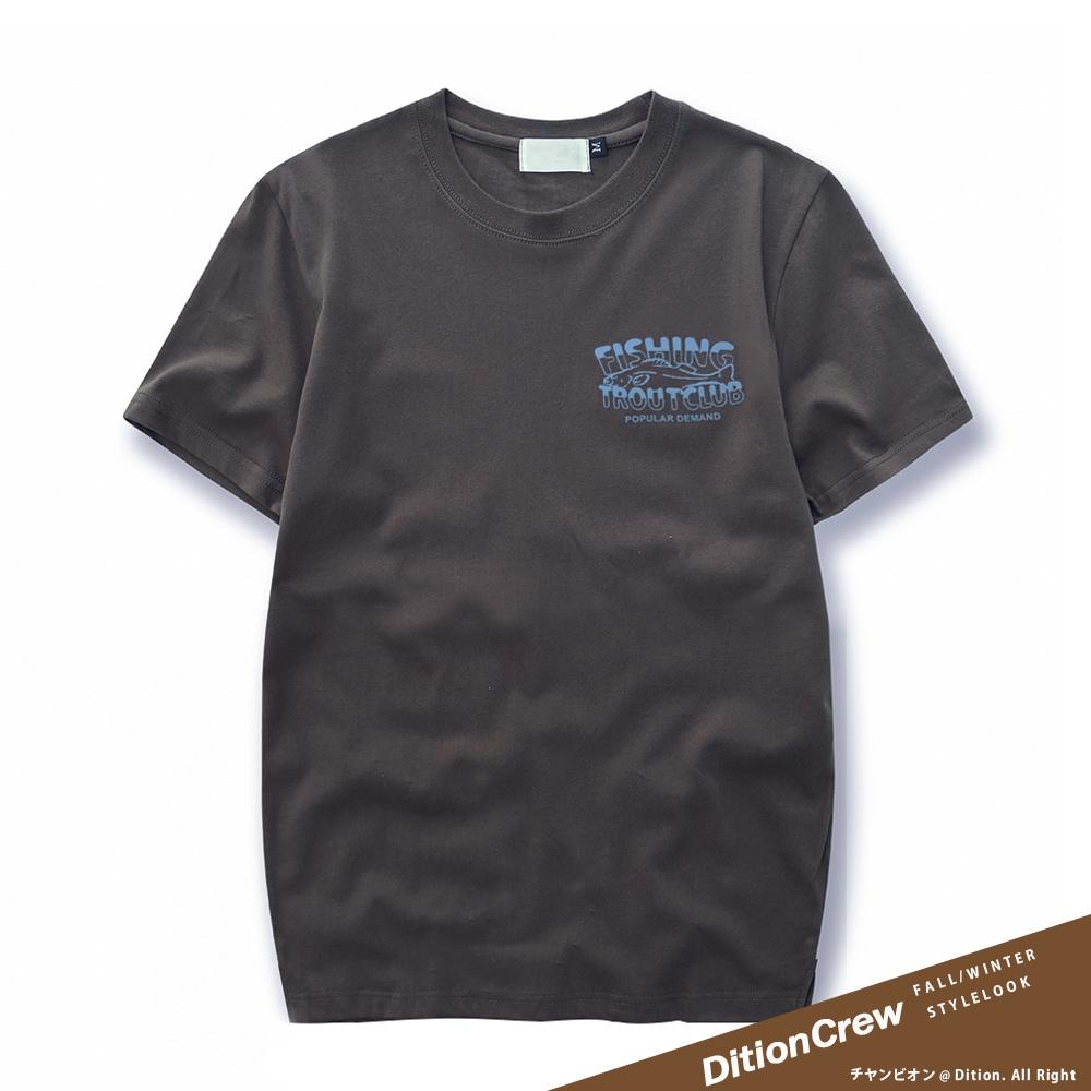 DITION 釣魚俱樂部FISHING短袖上衣 水洗拓印短T 露營 CAMP 戶外OUTDOOR