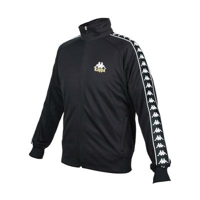 KAPPA 男針織外套-立領外套 慢跑 休閒 吸濕排汗 抗UV 35153JW-005 黑白金