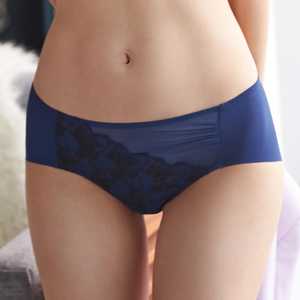 蕾黛絲-雙背片靠過來無痕內褲 M-EL 寶石藍