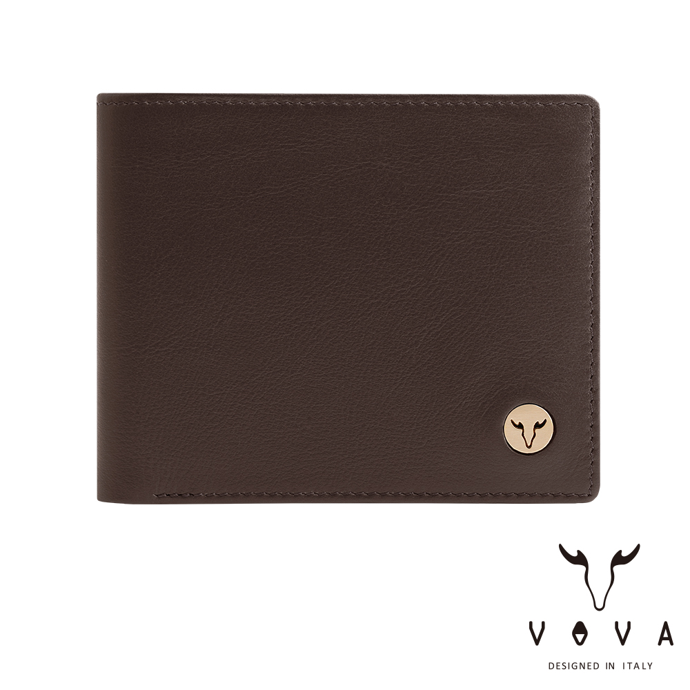 VOVA 費城系列9卡中間翻皮夾-煙草棕