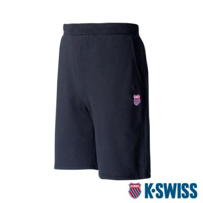 K-SWISS Heritage Logo Shorts棉質短褲-男-黑