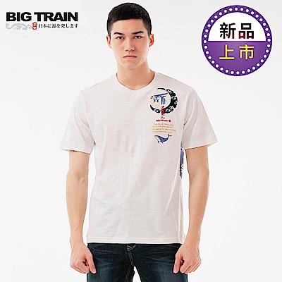 BigTrain藍海鯨王圓領短袖T-男-白色