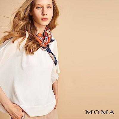 MOMA 雪紡荷葉袖上衣