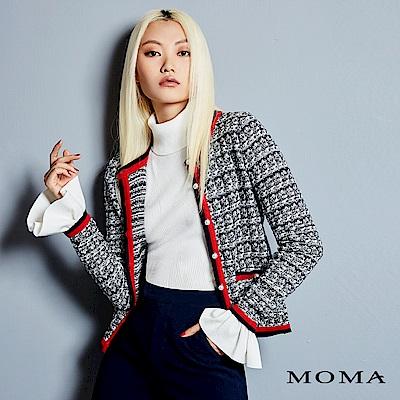 MOMA 混色珠飾針織外套
