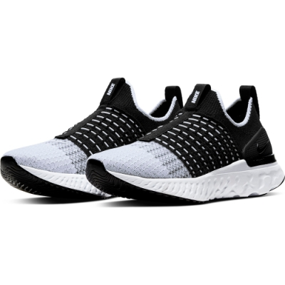 NIKE  襪套 緩震 慢跑 訓練 運動鞋  女鞋  黑灰白  CJ0280001  W REACT PHANTOM RUN FK 2