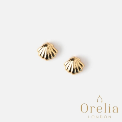 Orelia 英國倫敦 陽光貝殼鍍金耳釘