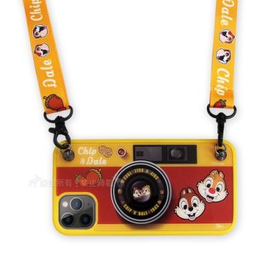 迪士尼相機造型 iPhone 11 Pro Max 6.<b>5</b>吋保護殼掛繩支架禮盒(奇奇蒂蒂)