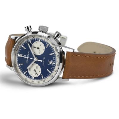 Hamilton 漢米爾頓Intra-Matic熊貓復古計時機械錶(H38416541)40mm