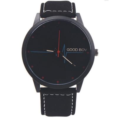 Watch-123 呼之欲出-藍光鏡面心電圖創意潮流手錶 (2色任選)
