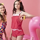 沙兒斯 泳裝 繁星點點艷麗紅粉連身式外罩衣 product thumbnail 2