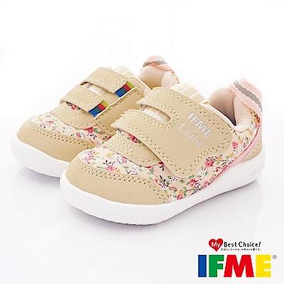 IFME健康機能鞋 超輕碎花學步款 EI 70303 米(寶寶段)