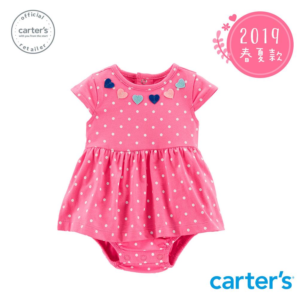 Carter's台灣總代理 愛心圓點印圖洋裝