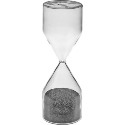 《VERSA》5分鐘柱型玻璃沙漏(灰)