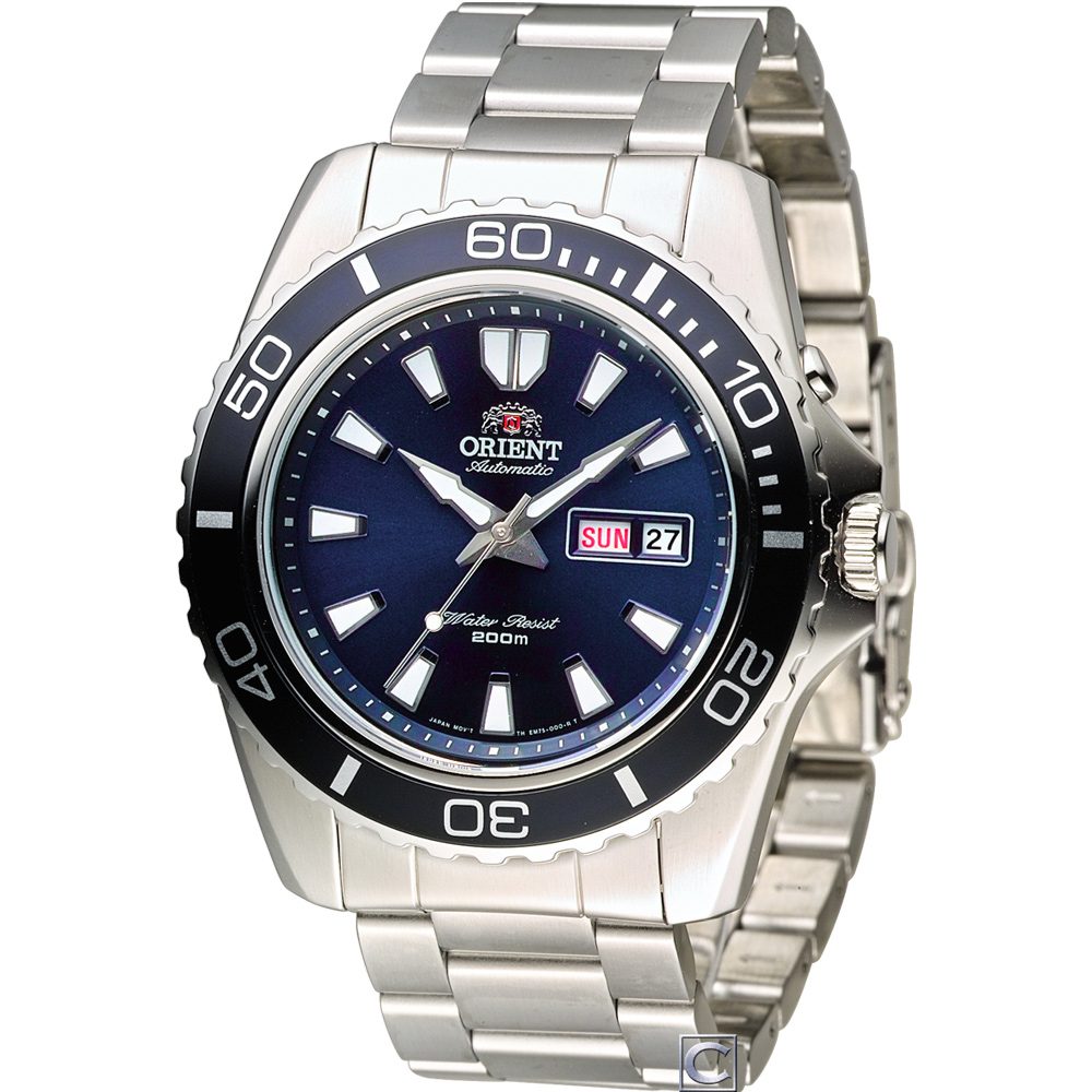 ORIENT 200米怒海潛將潛水錶(FEM75002D)藍