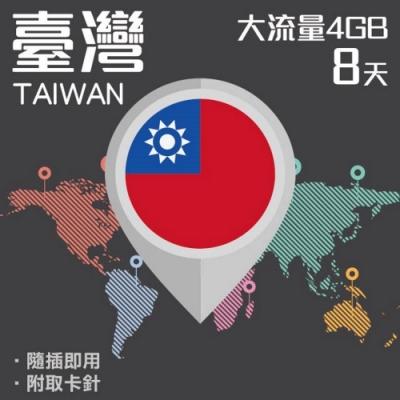 【PEKO】台灣上網卡 8日高速4G上網 4GB流量 優良品質