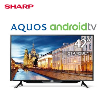 SHARP夏普42吋FHD智慧連網液晶顯示器+視訊盒 2T-C42BE1T