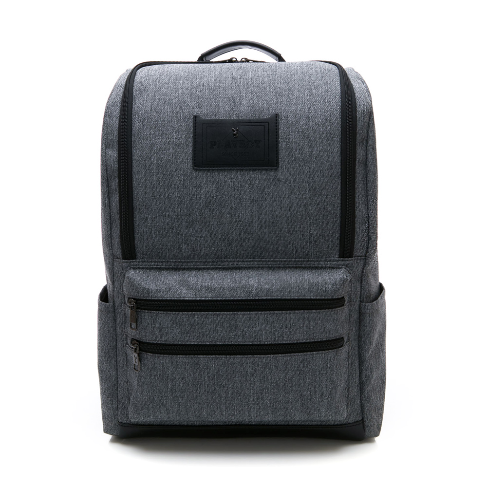 PLAYBOY- 後背包 職人系列-灰色