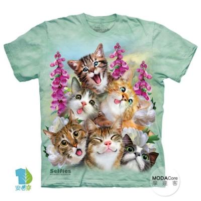 摩達客-美國The Mountain貓咪哦耶純棉環保中性短袖T恤