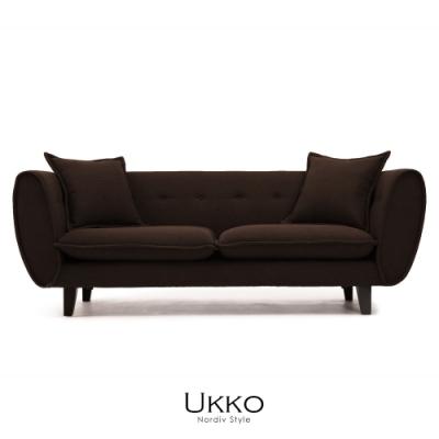 obis Ukko北歐風簡約三人沙發(二色)