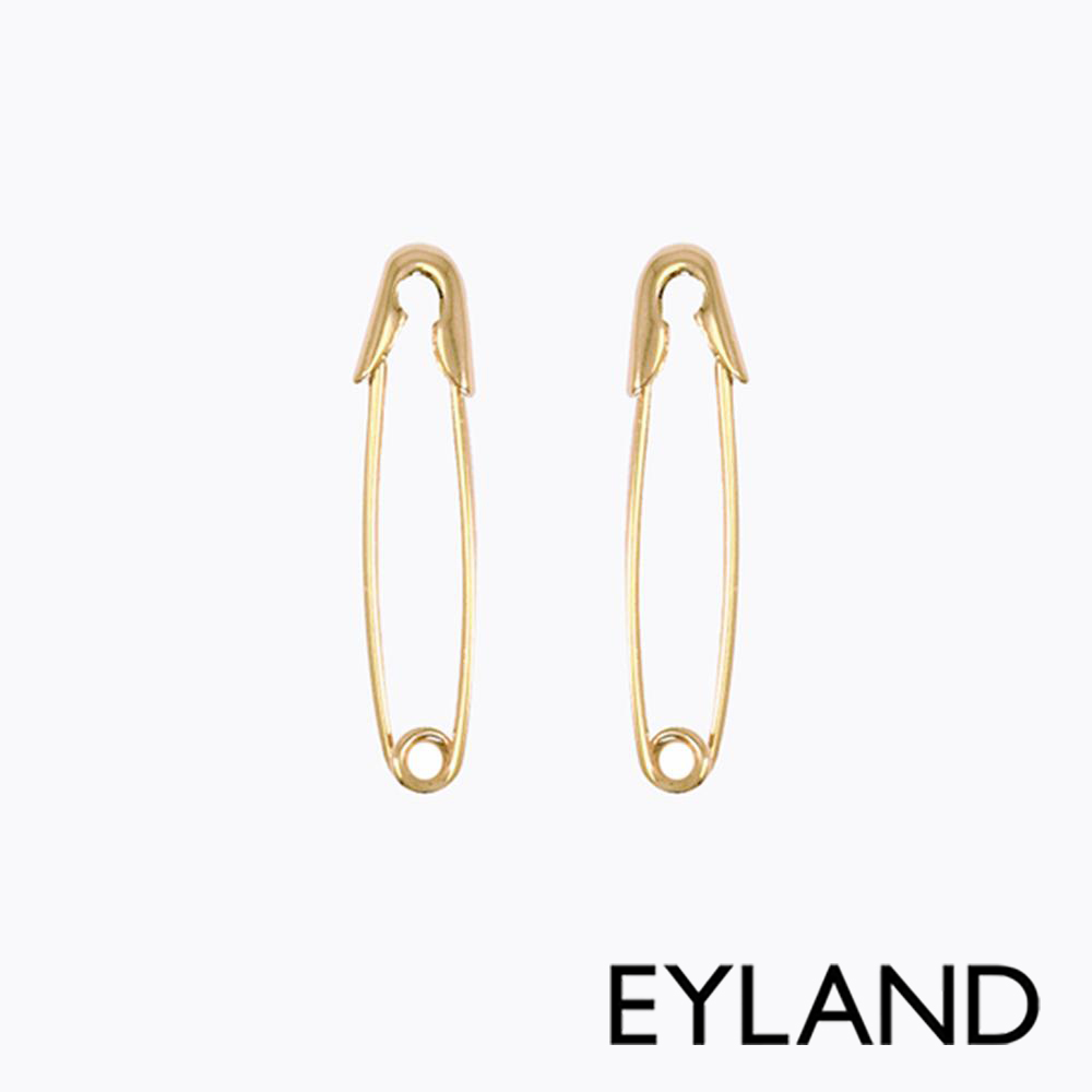 Eyland英國倫敦  HERA 鍍金迴紋針個性耳環