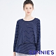 Gennies奇妮-條紋休閒孕婦哺乳上衣(藍白條TPA35) product thumbnail 1